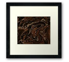 An abstrct from a 1500s book cover Framed Print
