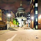 St. Pauls at Night II by Lea Valley Photographic