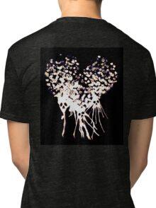 Goth broken heart skulls Tri-blend T-Shirt