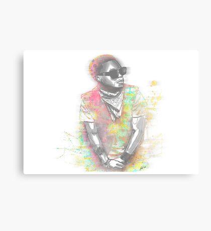 Lupe Fiasco Grey Splash Canvas Print