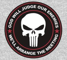 god will judge our enemies we'll arrange the meeting - red Kids Clothes