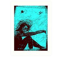 Black Doll series -blue, Rose Loya* Art Print