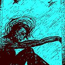 Black Doll series -blue, Rose Loya* by Rose Loya