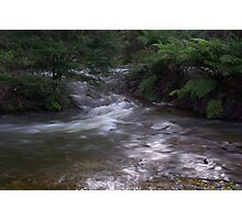 Waterfall next to the dam at Healsville Photographic Print