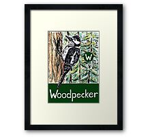W is for Woodpecker Framed Print