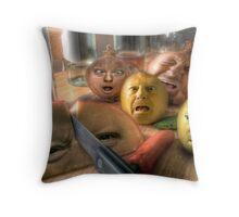 Grocery Slaughterhouse Throw Pillow