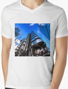 The Lloyd's of London Cheesegrater and Willis Group London Mens V-Neck T-Shirt