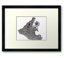 Psychedelic Demon Framed Print