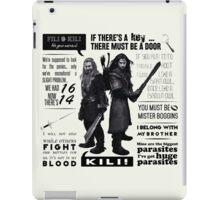 [The Hobbit] Fili & Kili - Quotes iPad Case/Skin