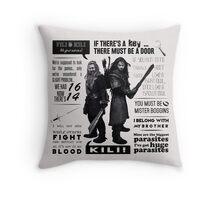 [The Hobbit] Fili & Kili - Quotes Throw Pillow