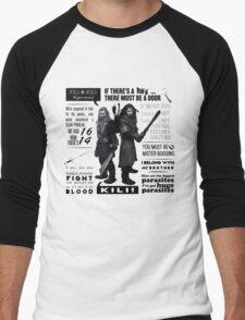 [The Hobbit] Fili & Kili - Quotes Men's Baseball ¾ T-Shirt