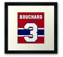 Butch Bouchard #3 - red jersey Framed Print