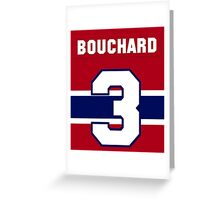 Butch Bouchard #3 - red jersey Greeting Card