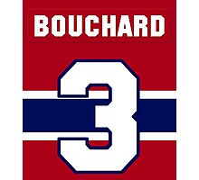 Butch Bouchard #3 - red jersey Photographic Print