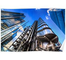 The Lloyd's of London Cheesegrater and Willis Group London Poster