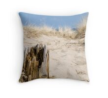 Old Piling in the Sand Throw Pillow