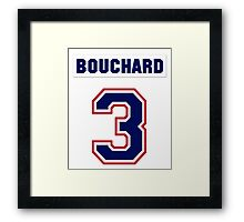 Butch Bouchard #3 - white jersey Framed Print