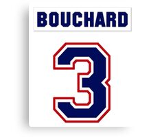 Butch Bouchard #3 - white jersey Canvas Print