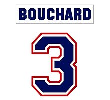 Butch Bouchard #3 - white jersey Photographic Print
