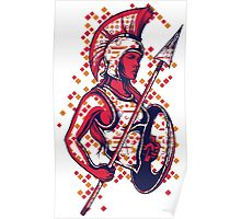 Abstract Warrior Poster