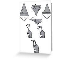 Origami Penguin Greeting Card