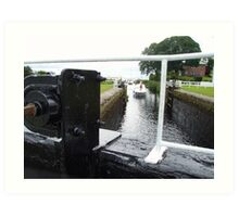 Crinan locks Adrishaig Loch fyne Art Print