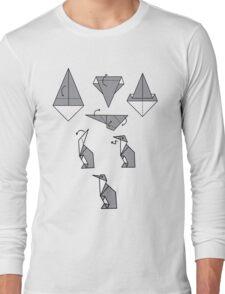 Origami Penguin Long Sleeve T-Shirt
