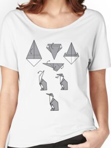 Origami Penguin Women's Relaxed Fit T-Shirt