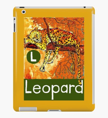 L is for Leopard iPad Case/Skin