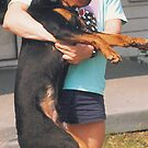 Me and my dog 20 years ago by Van Cordle