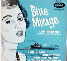 Les Baxter Blue Mirage ep cover by Vintaged