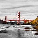 Golden Gate Bridge - Bakers Beach by Deyne Foster