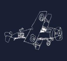 a biplane drawn by a kid Kids Clothes