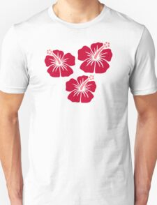 Red hibiscus flowers T-Shirt