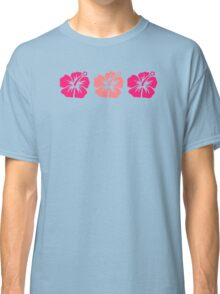 Pink hibiscus flowers Classic T-Shirt