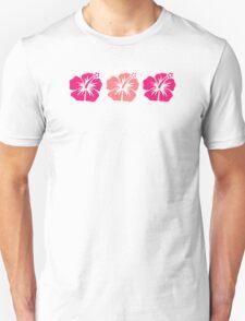 Pink hibiscus flowers Unisex T-Shirt