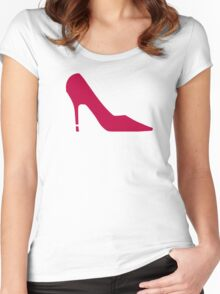 Red Shoe Pumps Women's Fitted Scoop T-Shirt