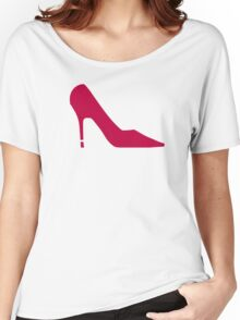 Red Shoe Pumps Women's Relaxed Fit T-Shirt