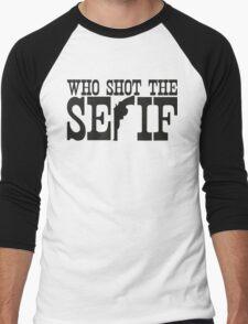 Who Shot The Serif Men's Baseball ¾ T-Shirt