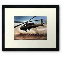 AH-64 Apache Helicopter Framed Print