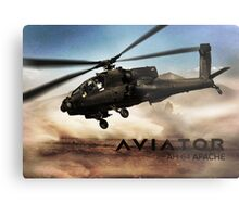 AH-64 Apache Helicopter Metal Print