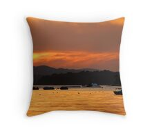 Poole Harbour Sunset Throw Pillow