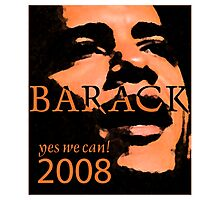 Barack Obama Yes We Can Slogan Photographic Print