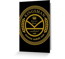 Kingsman the tailors - black and gold Greeting Card