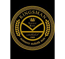 Kingsman the tailors - black and gold Photographic Print