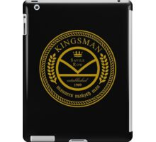 Kingsman the tailors - black and gold iPad Case/Skin