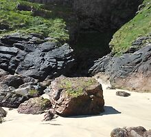 Cave Entrance - Tolsta Beach by kathrynsgallery