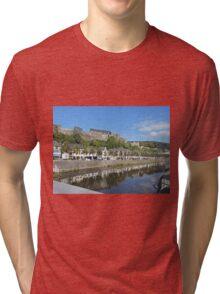 Bouillon and the Chateau-Fort de Bouillon,  Belgium Tri-blend T-Shirt