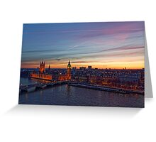 Sunset Over London - A Bird View Greeting Card