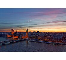 Sunset Over London - A Bird View Photographic Print